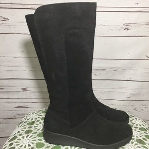 BORN Black Suede Knee Boots